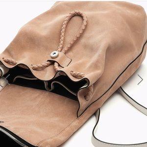 NWT rag & bone Loner Backpack Nude Suede